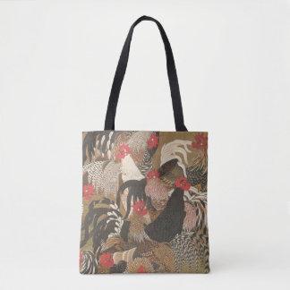 オンドリの日本のな芸術のオンドリ年2017のバッグ トートバッグ