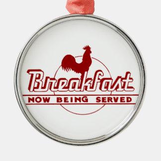 オンドリの朝食 メタルオーナメント