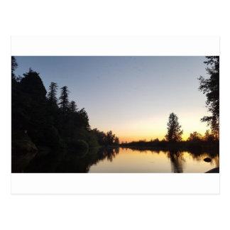 オンドリの石の日没 ポストカード