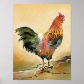 オンドリの絵画 ポスター