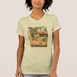 オンドリの農場ヤード(文字sans) tシャツ