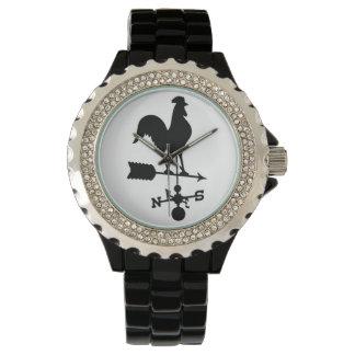 オンドリの風見鶏の腕時計 腕時計