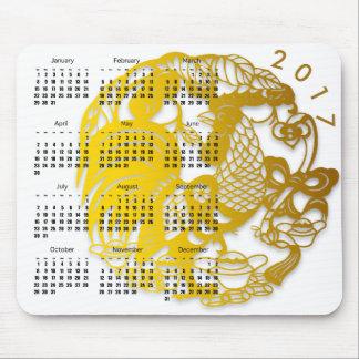 オンドリ2017のカレンダーのマウスパッドの旧正月 マウスパッド