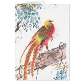 オンドリ-挨拶状 カード