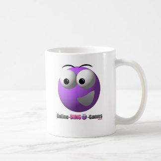 オンラインビンゴの商品のロゴおよびマスコット コーヒーマグカップ