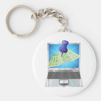 オンライン通り地図Keychain キーホルダー