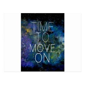 オン宇宙をの星が付いている夜空動かす時間 ポストカード