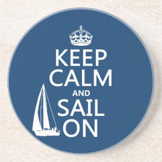 オン平静および帆をすべての色保って下さい コースター
