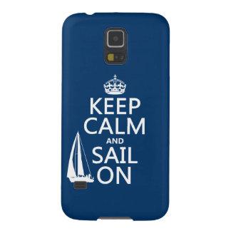 オン平静および帆をすべての色保って下さい GALAXY S5 ケース