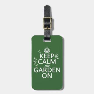 オン平静および庭をすべての色保って下さい ラゲッジタグ