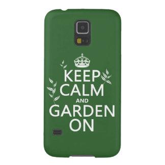 オン平静および庭をすべての色保って下さい GALAXY S5 ケース