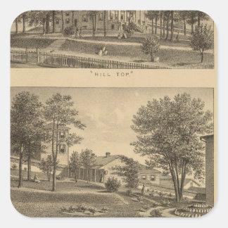 オーガスタの女性の神学校、ヴァージニア 正方形シール