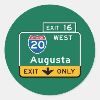 オーガスタのGAの交通標識 ラウンドシール