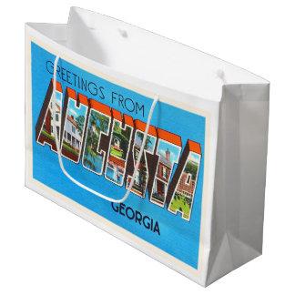 オーガスタジョージアGAの古いヴィンテージ旅行郵便はがき ラージペーパーバッグ