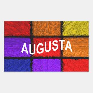 オーガスタ(女性の名前) 長方形シール