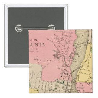 オーガスタ、Kennebec Co 5.1cm 正方形バッジ