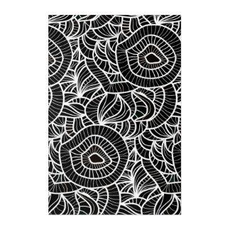 オーガニックで黒く及び白い繰り返しパターン アクリルウォールアート
