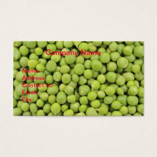 オーガニックなグリーンピース(Pisum Sativum)の背景 名刺