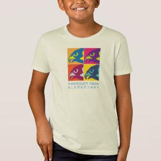 オーガニックなポップアートの《鳥》ハヤブサのティー Tシャツ