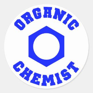 オーガニックな化学者のステッカー 丸形シールステッカー