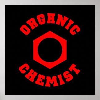 オーガニックな化学者ポスター プリント