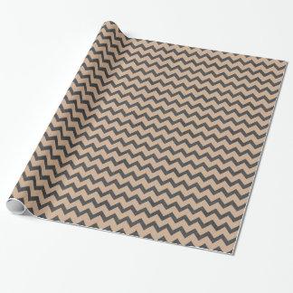オーガニックな生きているシェブロンブラウンの技術の紙のギフト用包装紙 ラッピングペーパー