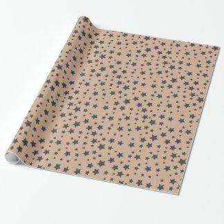 オーガニックな生きている星のブラウンの技術の紙のギフト用包装紙 ラッピングペーパー