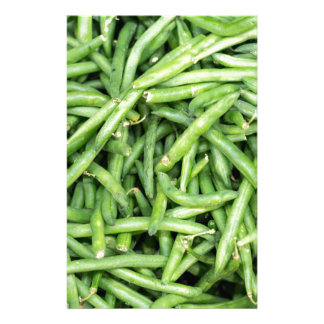 オーガニックな緑のサヤインゲンの野菜Vegitarian 便箋