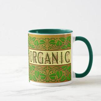 オーガニックな緑のスローガンのコーヒー・マグ マグカップ