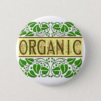 オーガニックな緑のスローガンボタン 5.7CM 丸型バッジ