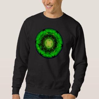 オーガニックな緑の曼荼羅 スウェットシャツ