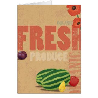 オーガニックな農産物 カード
