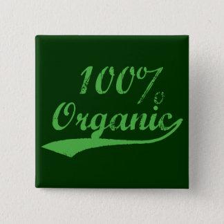 オーガニックな100%年 缶バッジ