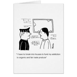 オーガニックな、公正貿易の常習 カード