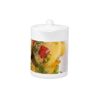 オーガニックなvegetabが付いている菜食主義皿の平面図