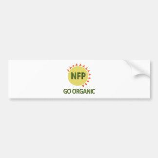 オーガニックに、練習NFPは行きます バンパーステッカー