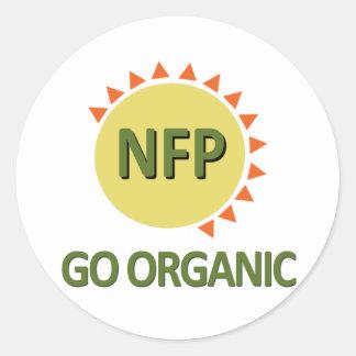 オーガニックに、練習NFPは行きます ラウンドシール