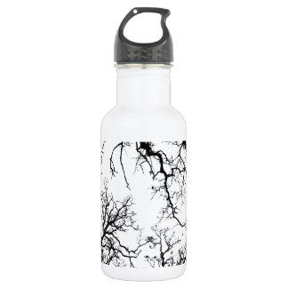 オークの木のシルエット ウォーターボトル