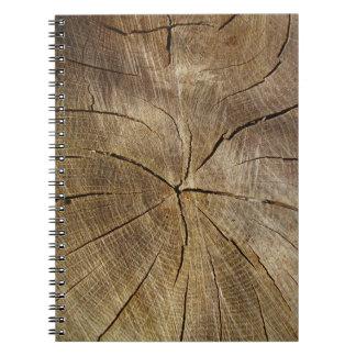 オークの木の断面写真のノート ノートブック