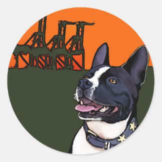 オークランドのカリフォルニアの雑種犬-ハリー ラウンドシール