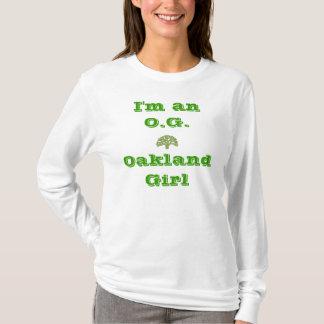 オークランドの女の子のフード付きスウェットシャツ Tシャツ