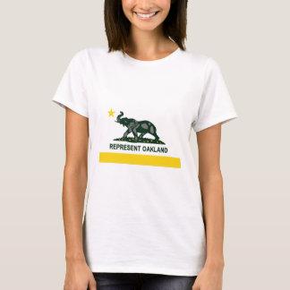 オークランドの州の旗(ライト) Tシャツ