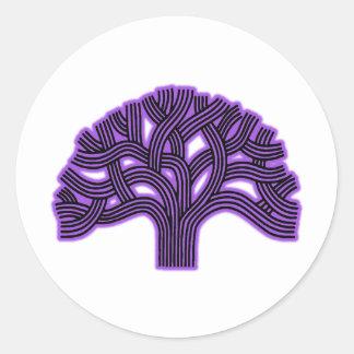 オークランドの木の紫色の霞 ラウンドシール