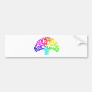 オークランドの木の虹 バンパーステッカー