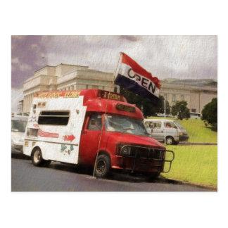オークランドの範囲のアイスクリームのトラック ポストカード