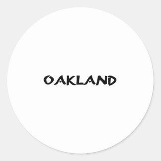 オークランドの落書きのフォント ラウンドシール