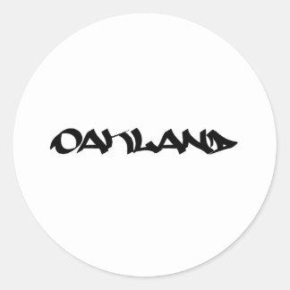 オークランドの落書き ラウンドシール