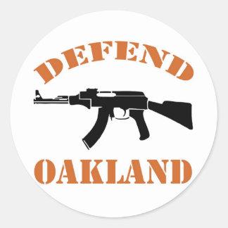オークランドを守って下さい ラウンドシール