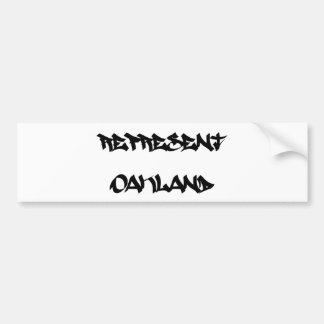 オークランドを表して下さい バンパーステッカー