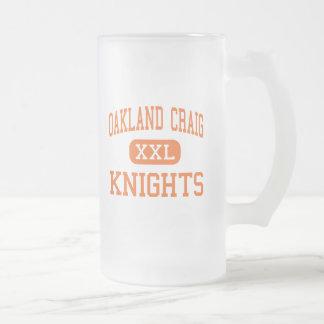 オークランドクレイグ-騎士-高オークランドネブラスカ フロストグラスビールジョッキ